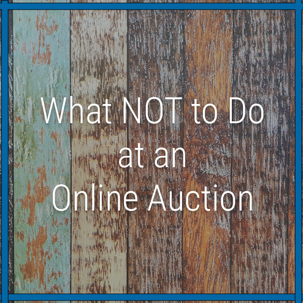 what not to do online auction