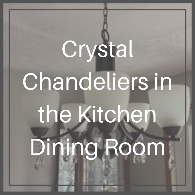 Crystal Chandeliers in the Kitchen Dining Room