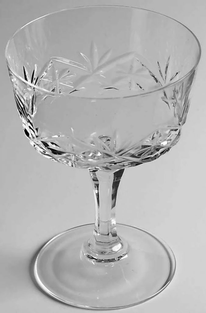 French Crystal Champagne Coupe